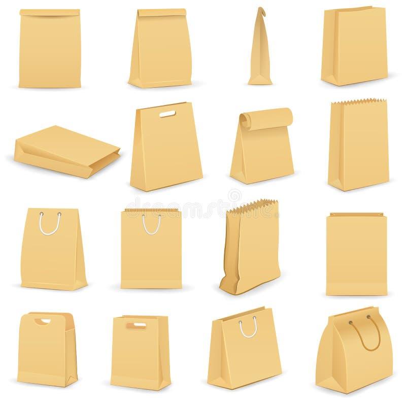Paper Bag stock illustration