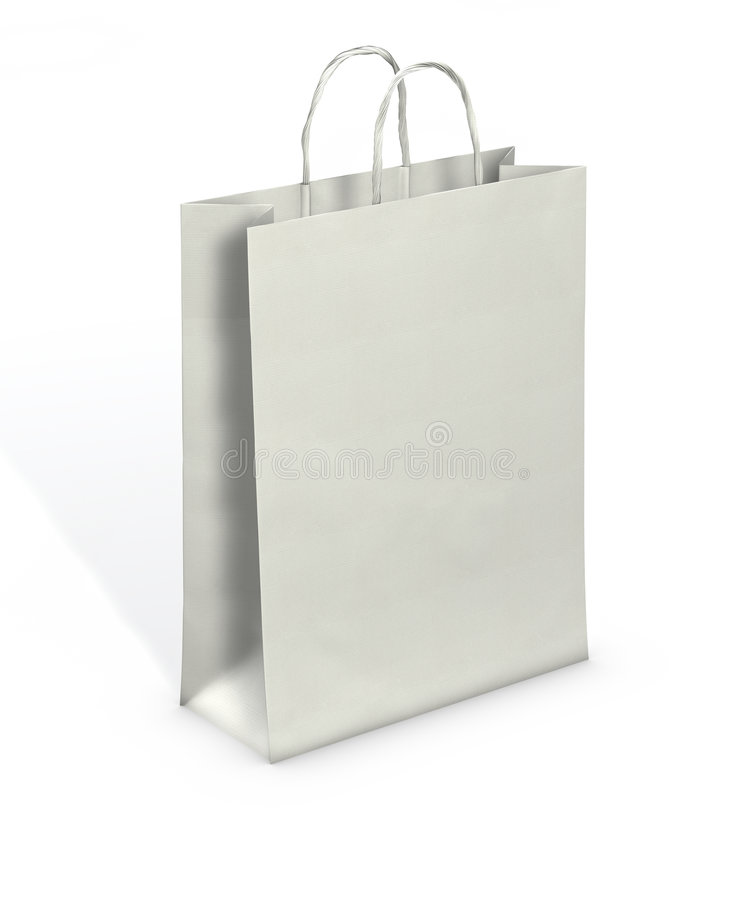Blank Paper Bag. Clipping path stock photography