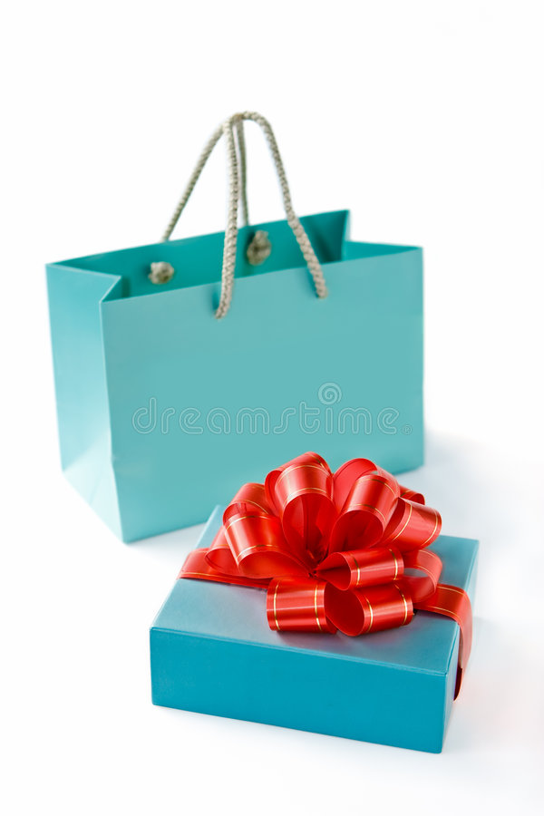 Paper bag and box royalty free stock images