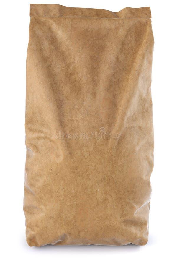 Paper bag. Brown paper bag. on white background. 3D illustration vector illustration