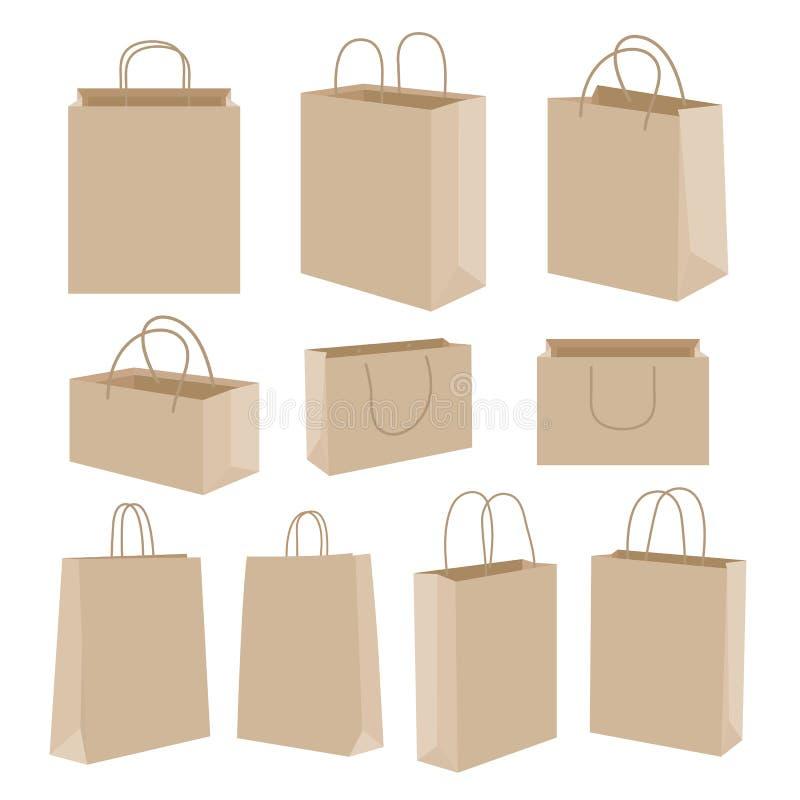 Paper Bag Cartoon Design Vector vector illustration