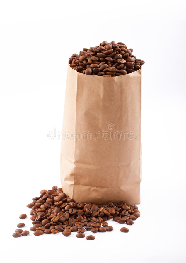 Download Paper Bag With Coffee Beans. Stock Image - Image: 28820683