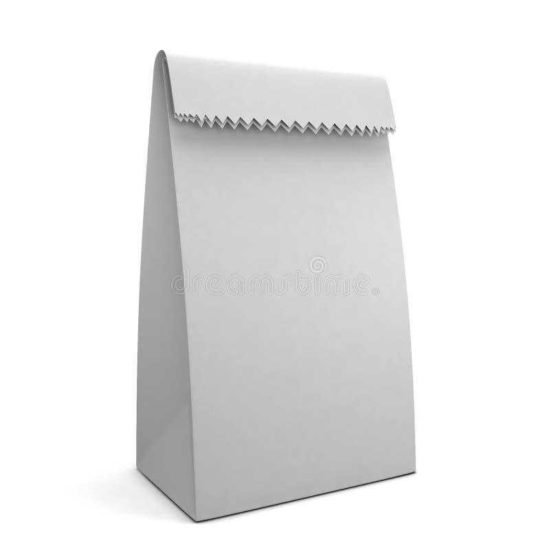 Paper bag. 3d illustration on white background royalty free illustration