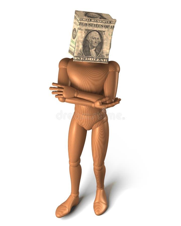 Paper bag head dollar