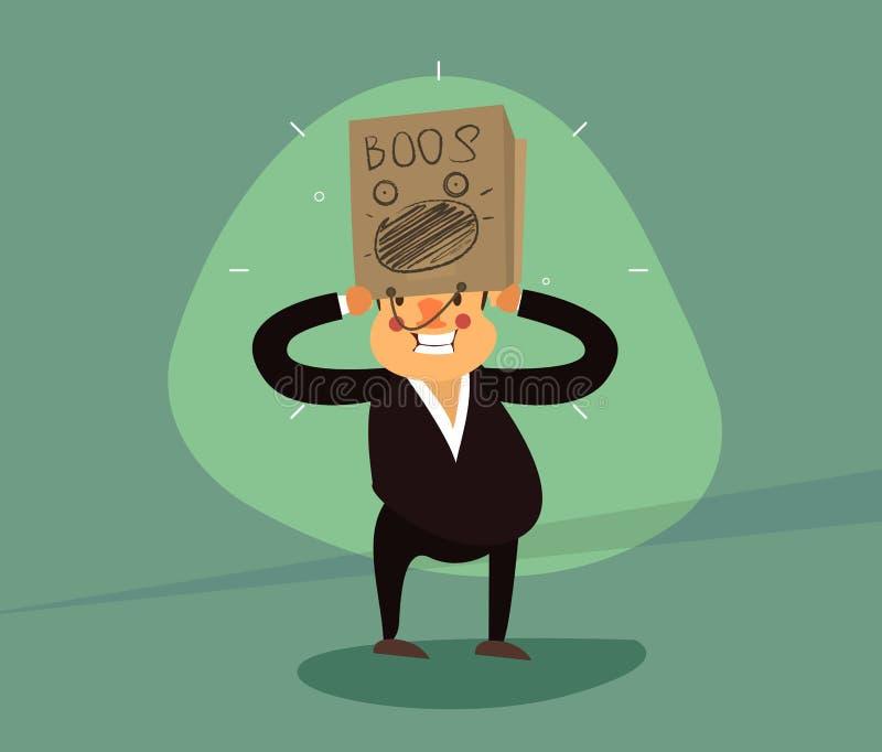 Paper bag on head vector illustration