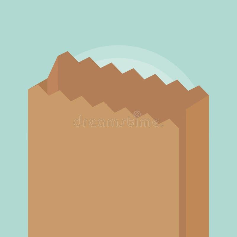 Paper bag icon. Over green background, colorful design. vector illustration stock illustration