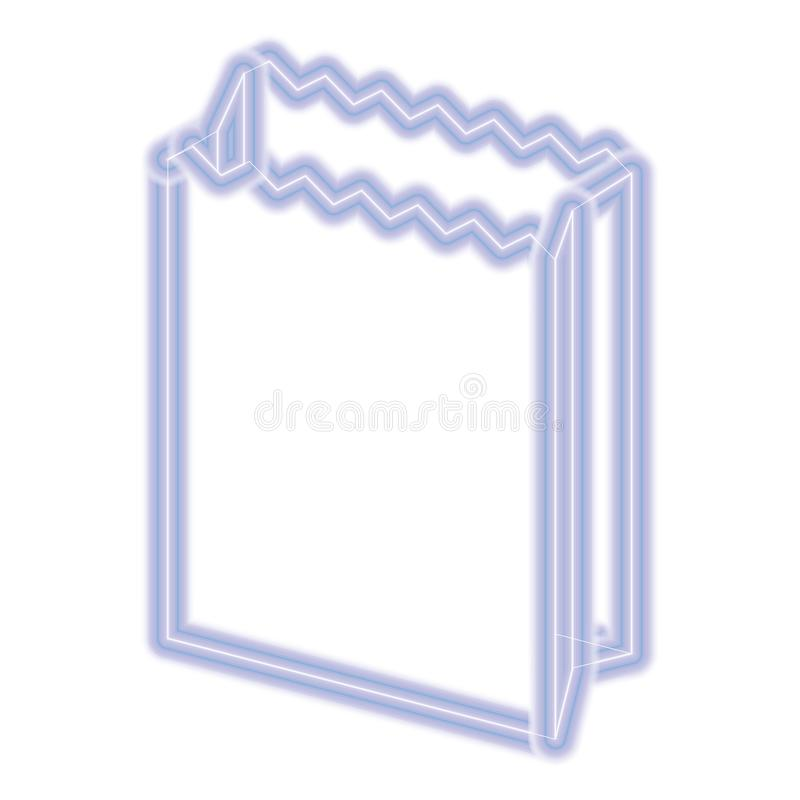 Paper bag icon. Over white background, vector illustration stock illustration
