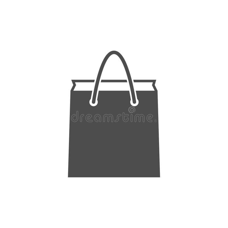 Paper bag icon vector illustration