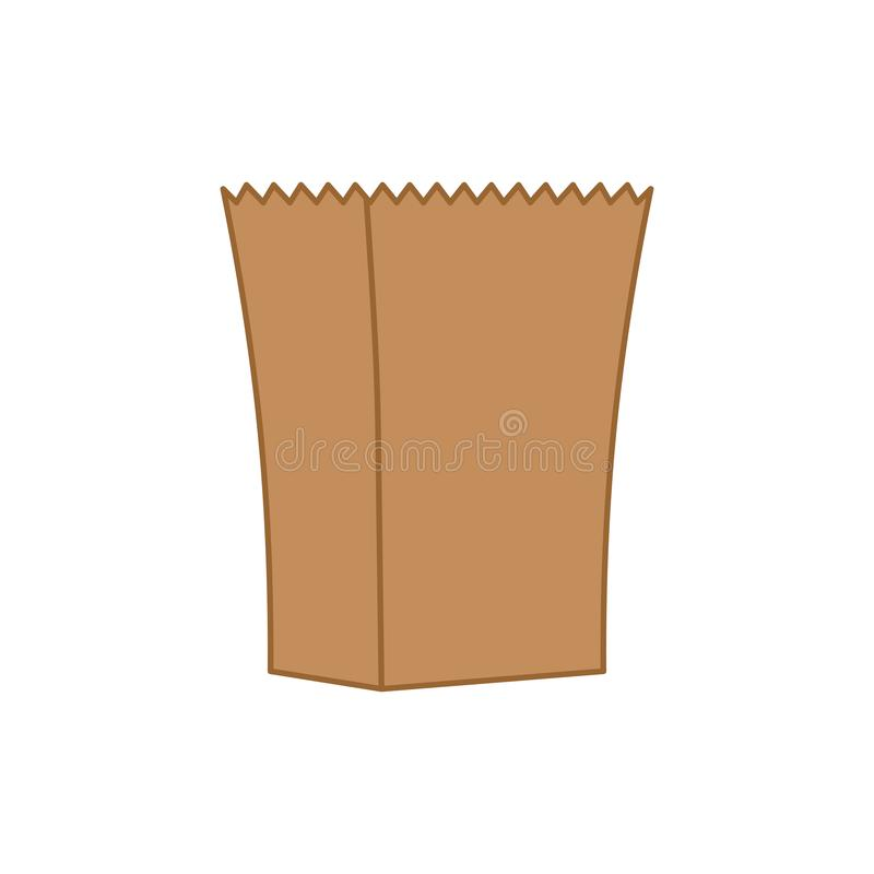Paper bag isolated. Ecological packaging. Vector illustration.  royalty free illustration