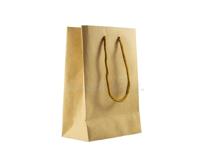 Paper bag. Isolated on white background royalty free stock photography