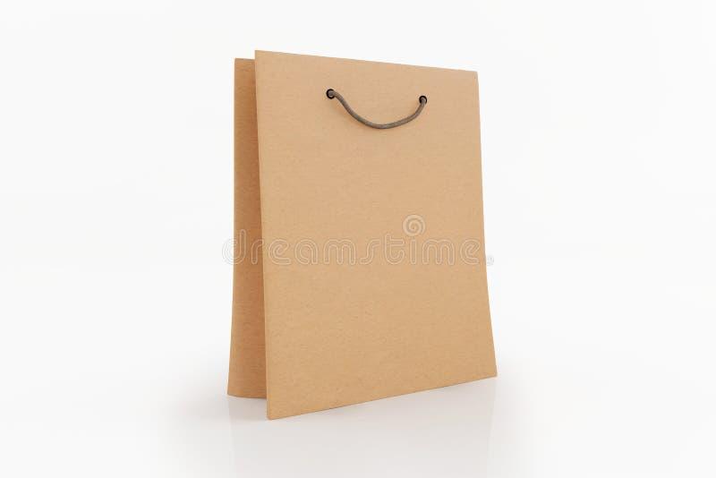 Paper bag isolated on white background. stock illustration