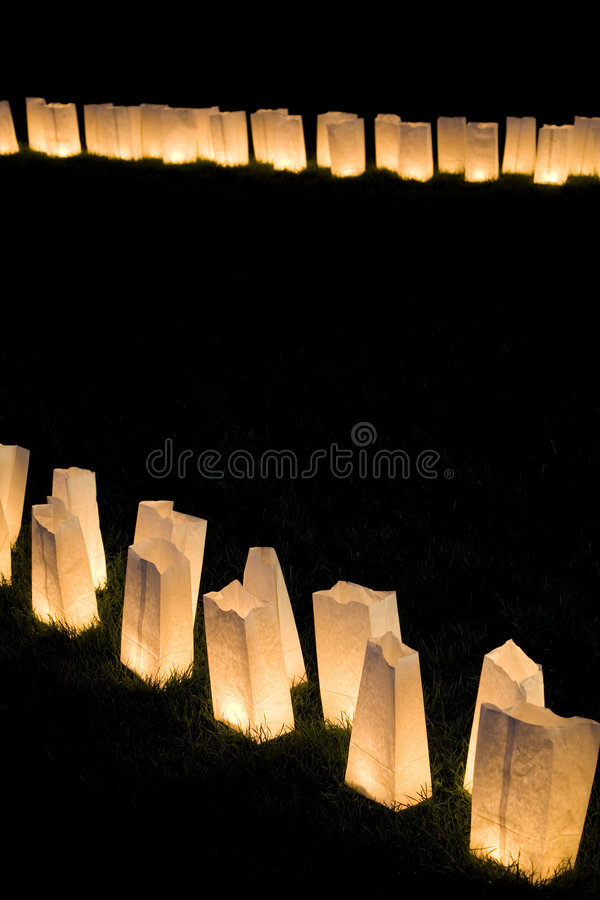 Paper bag lamps royalty free stock images