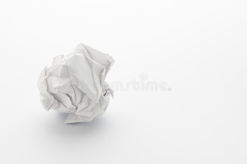 Paper ball royalty free stock photo
