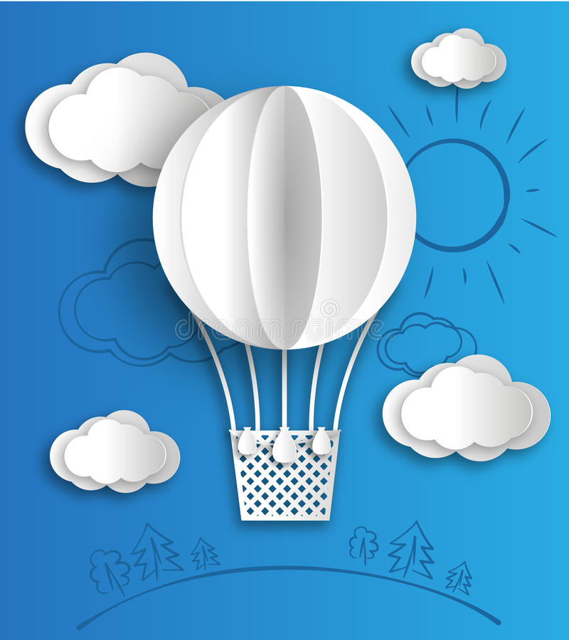 Paper balloon royalty free stock photo