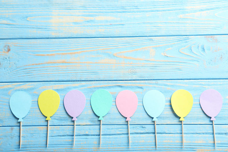 Download Paper balloons stock photo. Image of board, green, celebration - 76876970