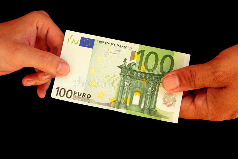 Paper bill C note stock photo