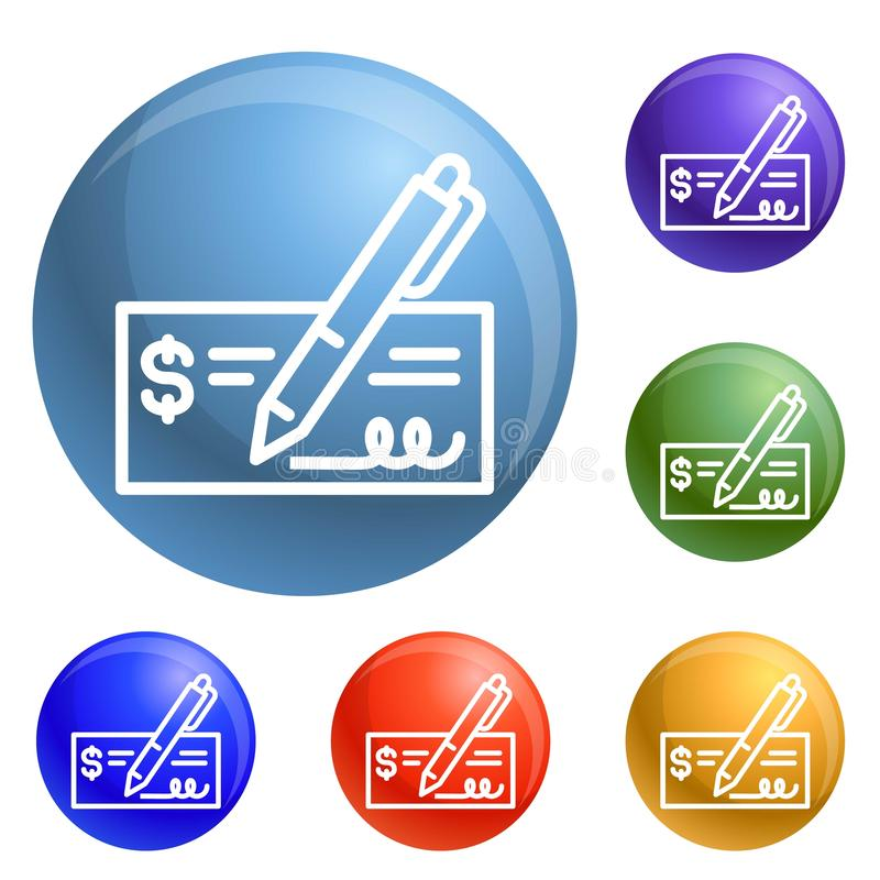 Paper bill money icons set vector royalty free illustration