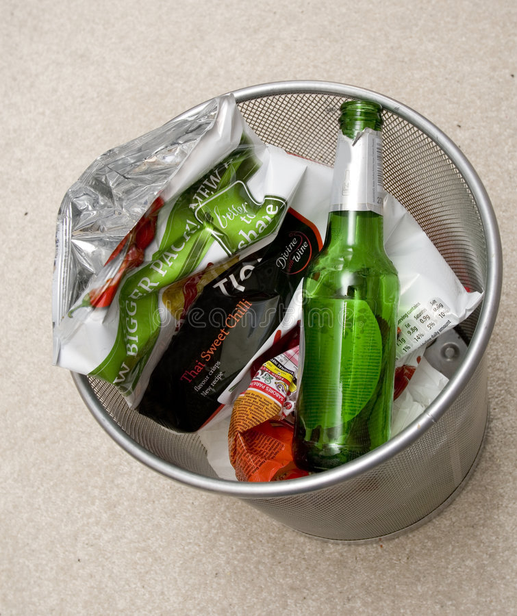 Paper bin royalty free stock photography