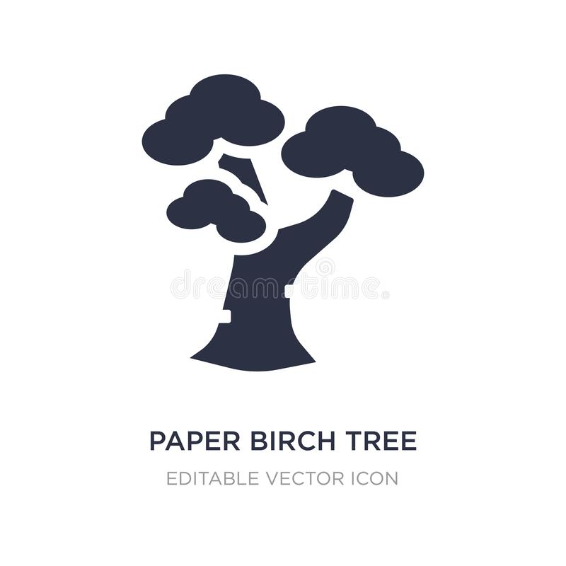 paper birch tree icon on white background. Simple element illustration from Nature concept royalty free illustration
