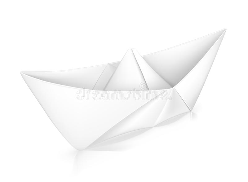 Paper boat stock illustration