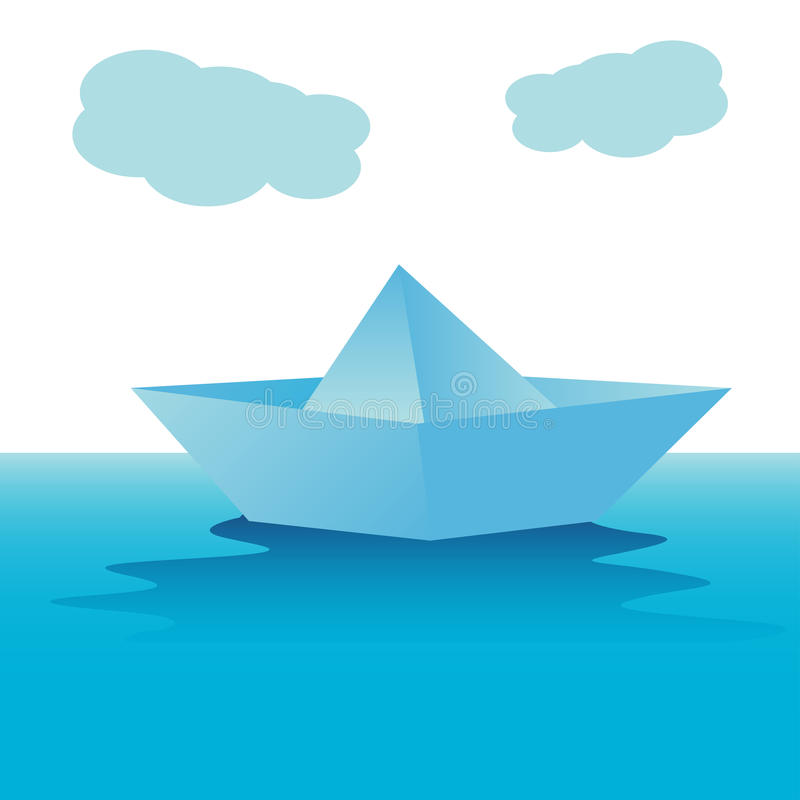 Download Paper boat stock vector. Illustration of origami, abstract - 21946392
