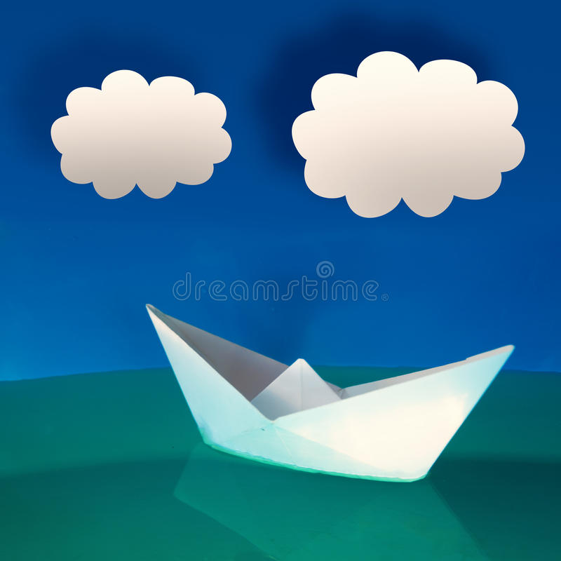 Download Paper boat stock photo. Image of concept, floating, ship - 27786604