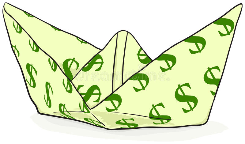 Download Paper Boat With A Dollar Sign - Vector Stock Vector - Illustration: 20542912