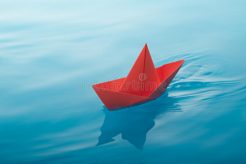 Download Paper boat sailing stock photo. Image of origami, water - 31974436