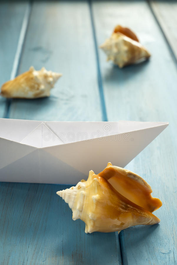 Download Paper Boat stock photo. Image of blue, fantasy, wood - 36871036