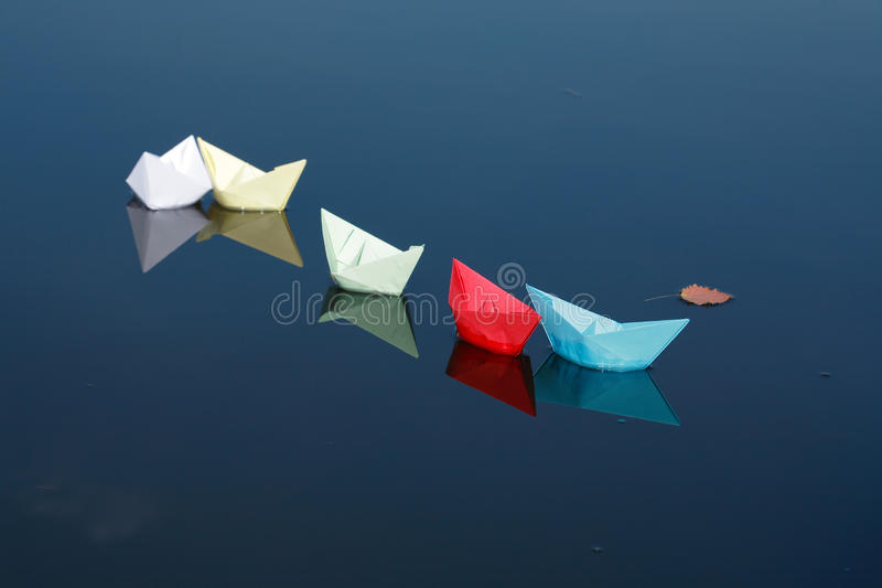 Download Paper Boats On Water stock photo. Image of colored, vessel - 16259920