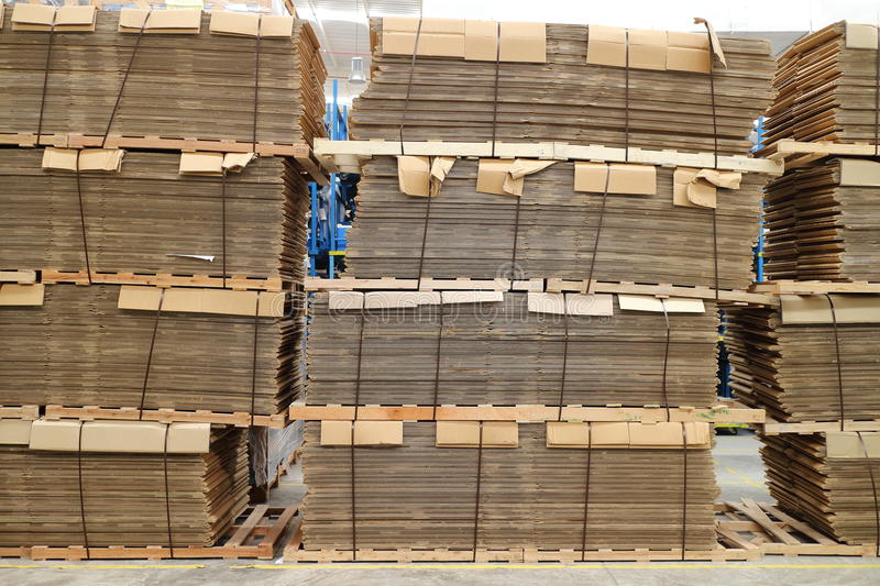 Paper for box. Assembly that use in factory stock images