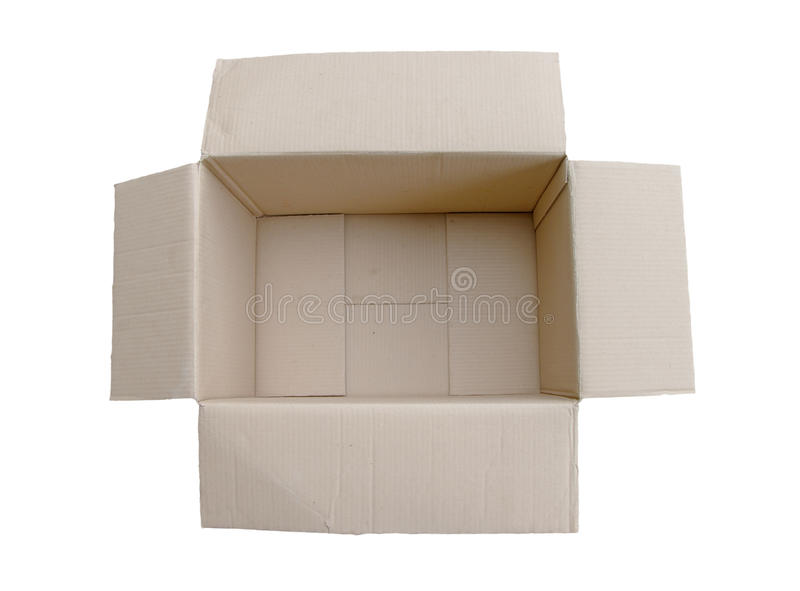 Paper box. Isolated on whit background stock photography