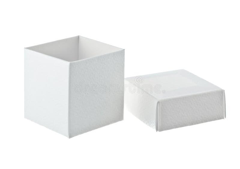 Paper Box On White Background Stock Photos
