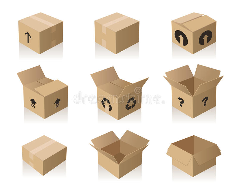 Download Paper Boxes stock vector. Image of mark, boxes, paper - 13095317