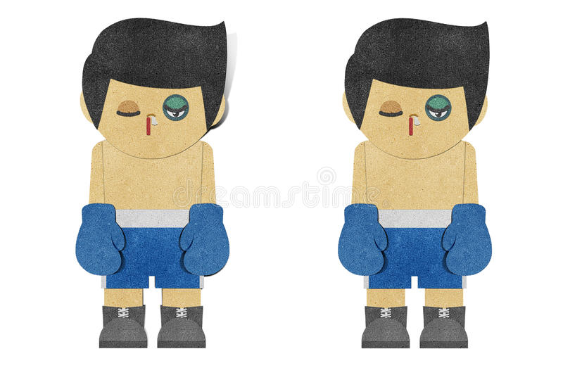 Paper boy ( Boxer ) recycled paper craft