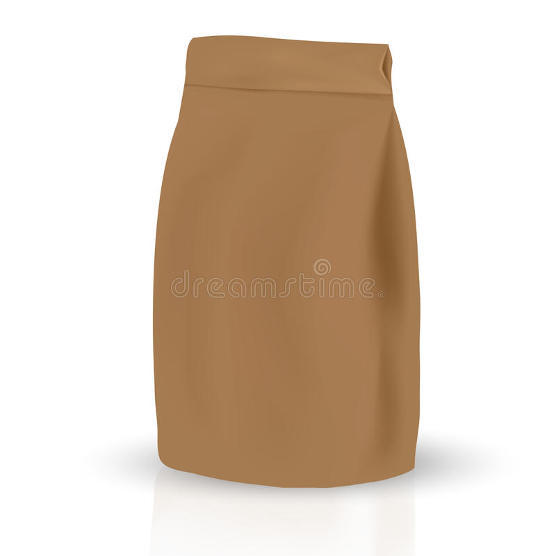 Paper brown packaging bag royalty free illustration