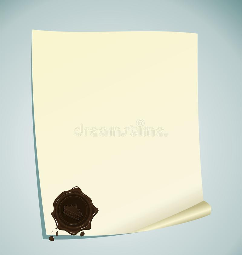 Download Paper With Brown Wax Sealing Royalty Free Stock Photos - Image: 19600378