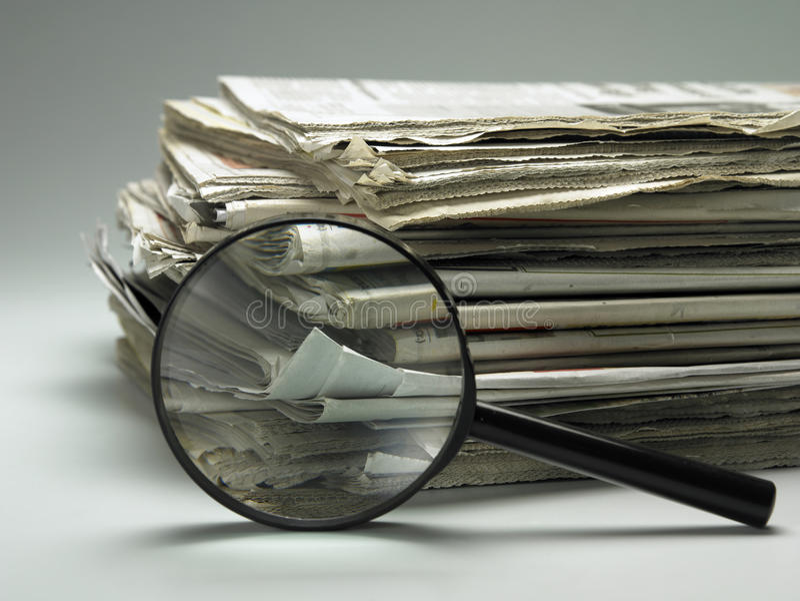 paper bunt för förstoringsapparat arkivbild
