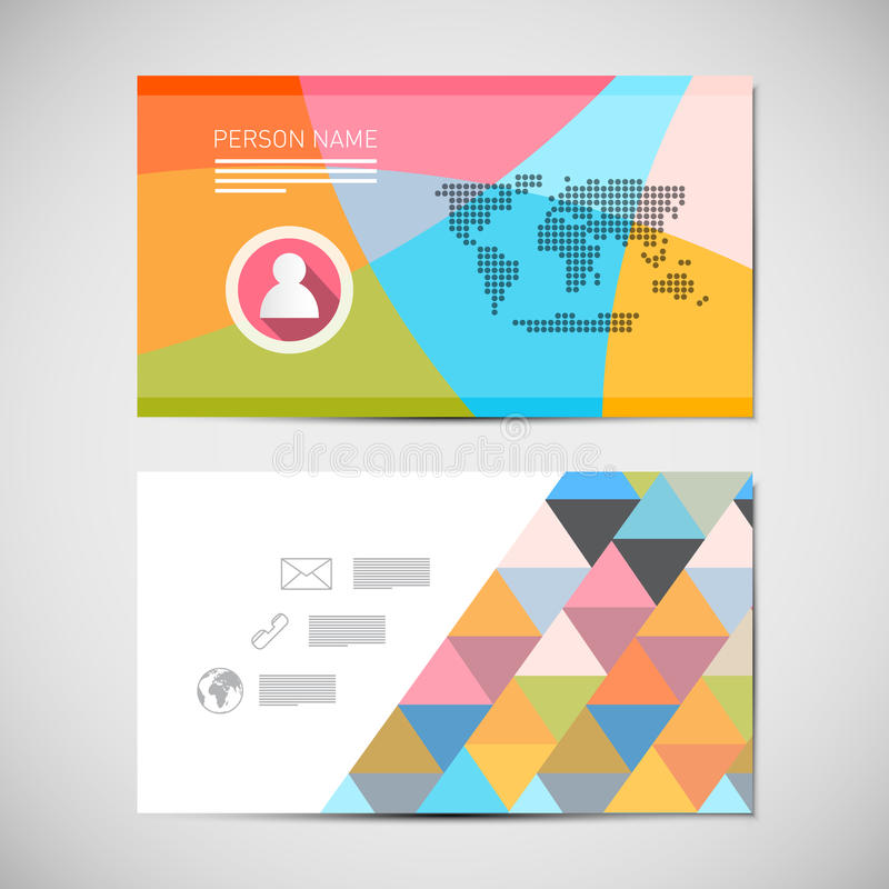 Paper Business Card Template stock illustration