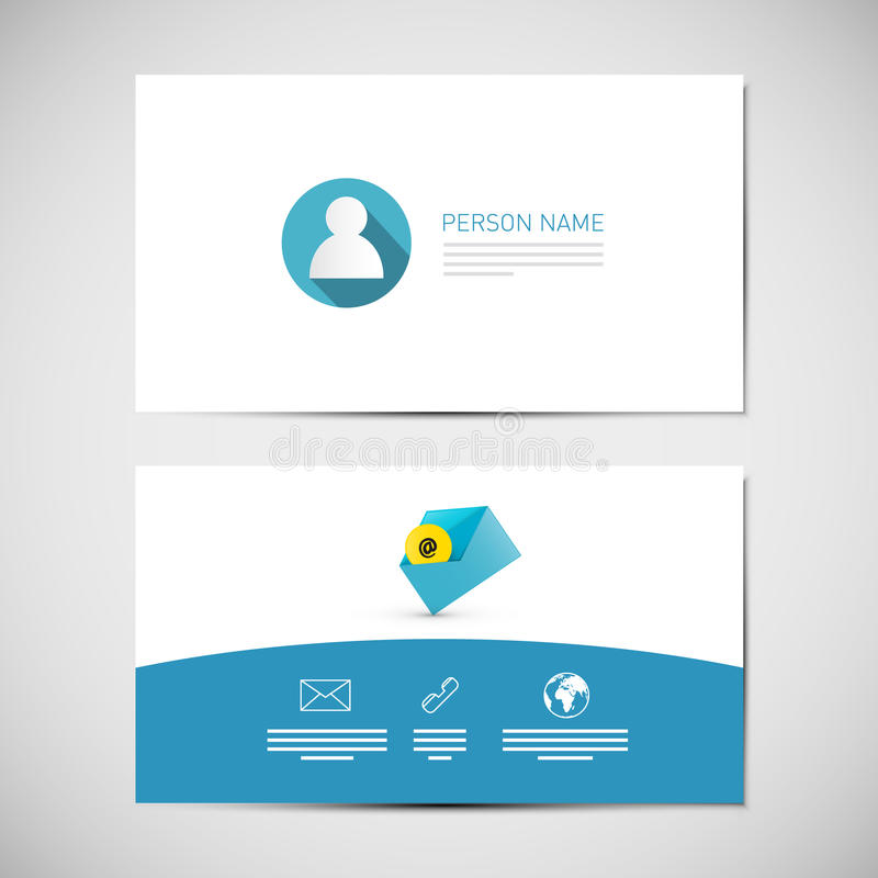 Paper Business Card Template royalty free illustration