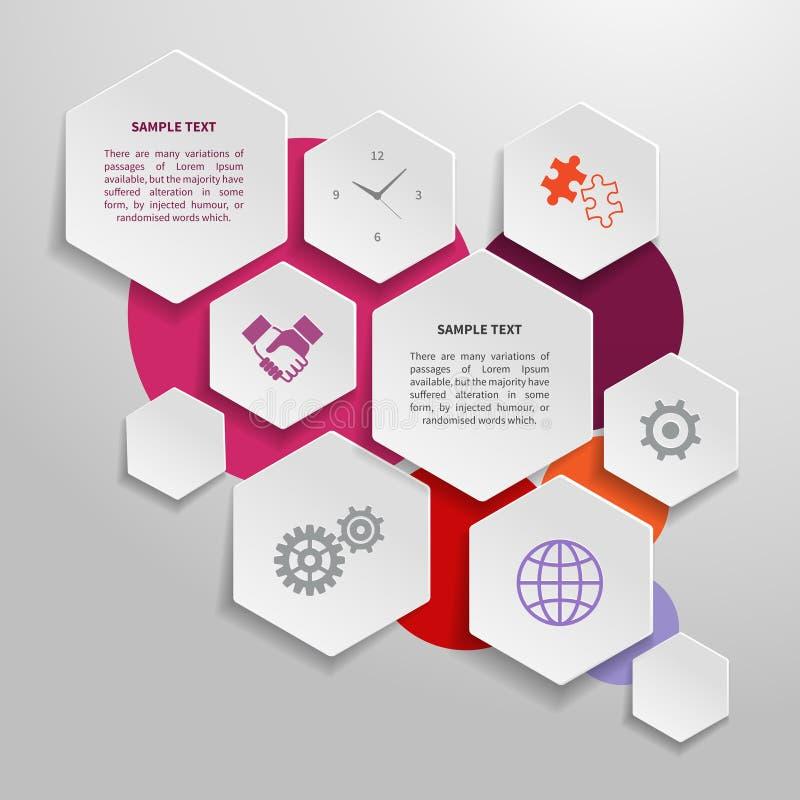 Paper business infographics design elements. Abstract paper business infographics design elements for presentation report vector illustration stock illustration