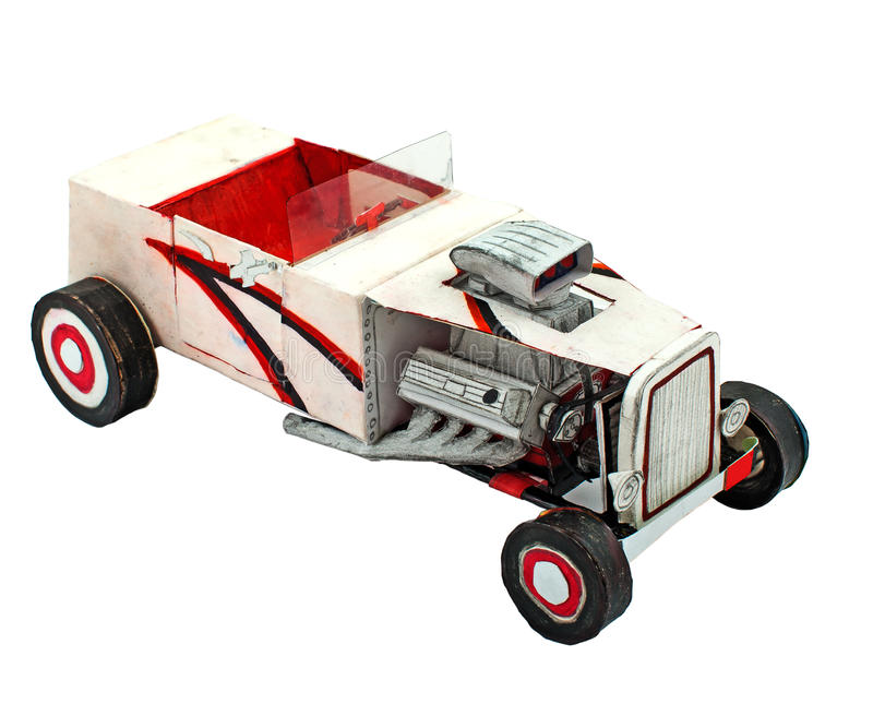 Paper car model royalty free stock images