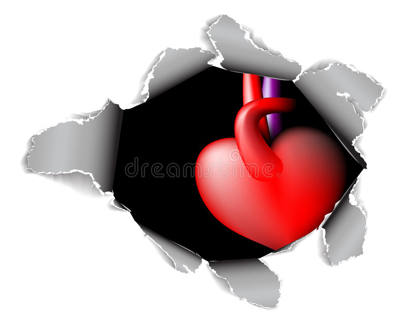 Download Paper Card With Hole And Heart Stock Vector - Illustration of break, idea: 8154919
