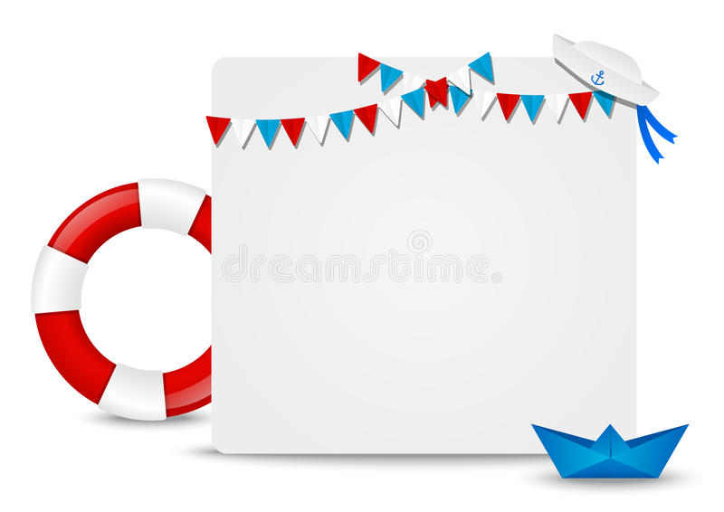 Paper card royalty free illustration