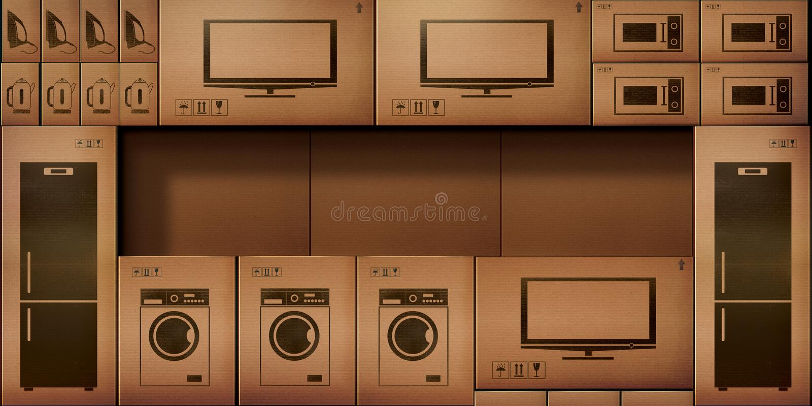 Paper cardboard boxes stock electronic stock photos