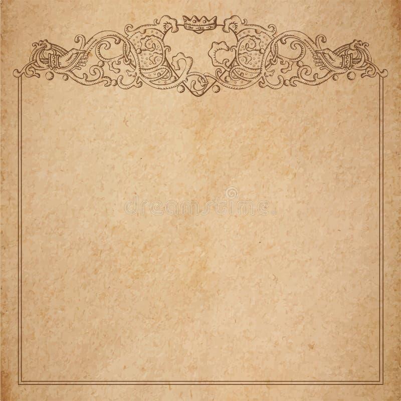 Paper Cardboard With Vintage Frame Stock Vector - Illustration of ...
