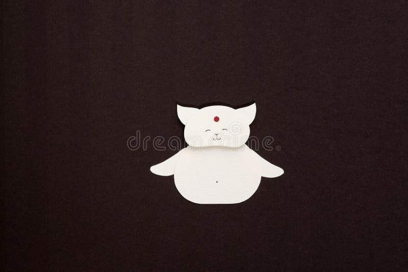 Paper cat applique stock photography