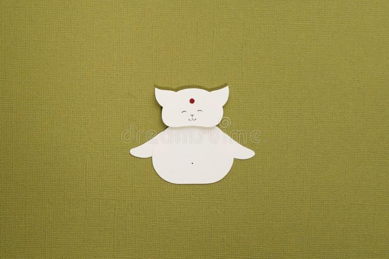 Paper cat applique stock photos