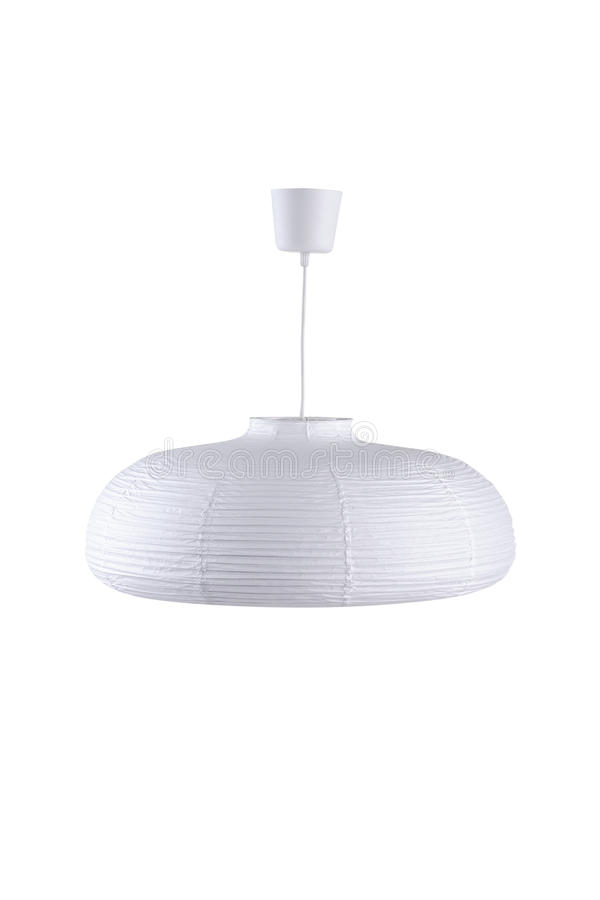 Download Paper ceiling lamp stock image. Image of modern, isolate - 31721931