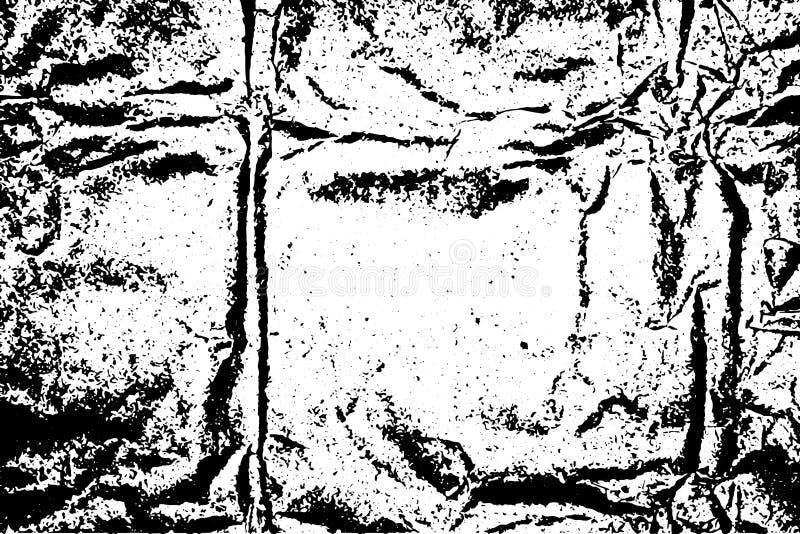 Paper-2 chiffonné par texture illustration stock